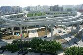 Panoramic city overpass — Stock Photo