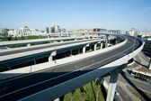 Panoramic city overpass — Stock Photo