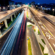 Chengdu, China, city overpass at night — Lizenzfreies Foto
