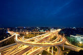 Chengdu, China, city overpass at night — Stock Photo