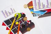 Sprawozdania finansowe, namalowany rysunek — Zdjęcie stockowe