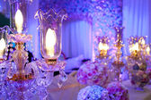 Gorgeous stage background, crystal lamps — Stock Photo