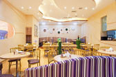 The restaurant is decorated — Stockfoto