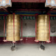 Stock Photo: Temples, prayer wheel