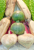 Variety of fruits and vegetables — Stock Photo