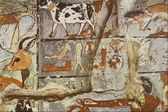 L'arte egiziana di scultura su pietra antica arte egizia — Foto Stock