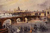 Westerse oude schilderijen, schilderijen — Stockfoto