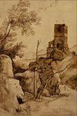 Zachodniej dawnych obrazów i rysunków — Zdjęcie stockowe