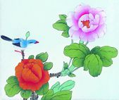 China's traditional Chinese painting, flowers and birds — Stock Photo