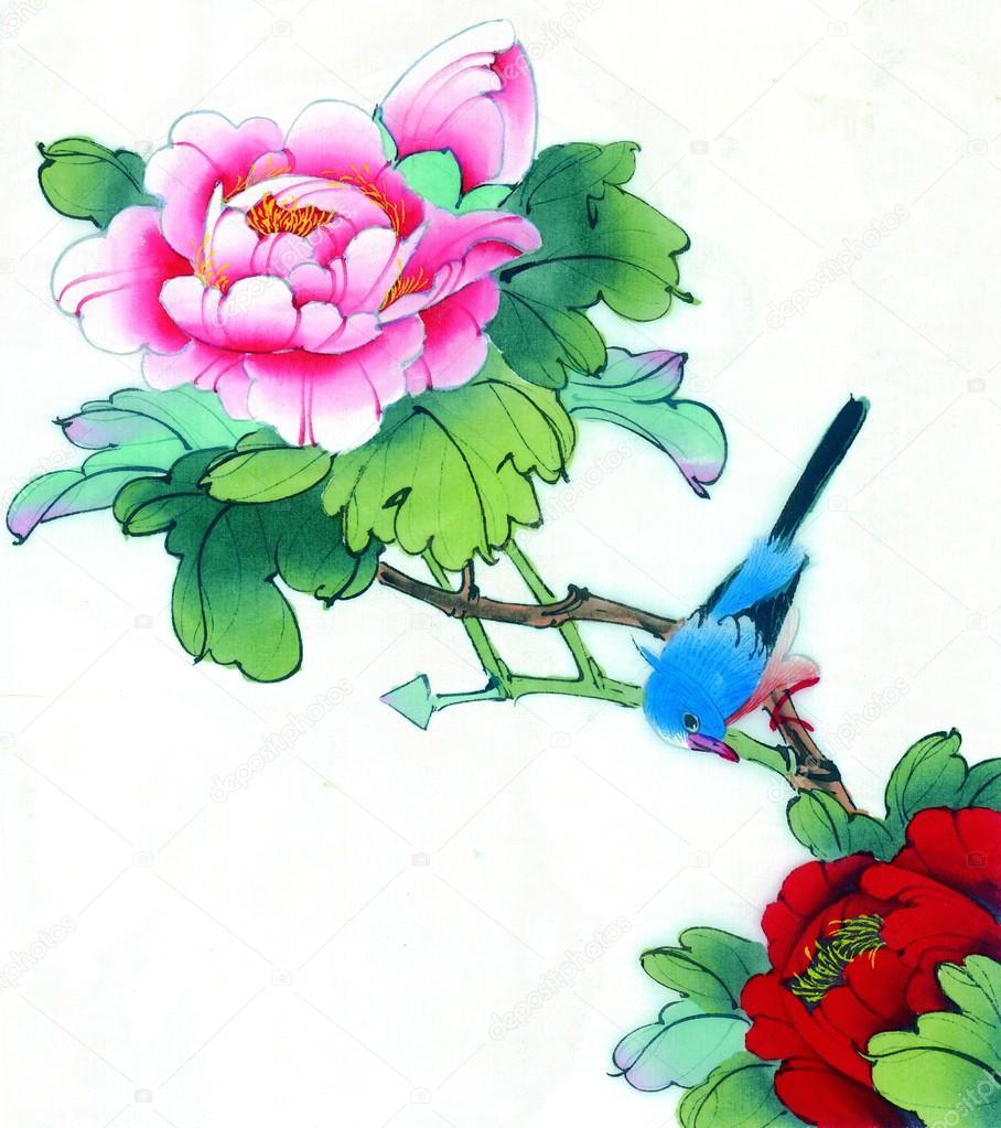 chinas traditionelle chinesische malerei blumen und v gel. Black Bedroom Furniture Sets. Home Design Ideas