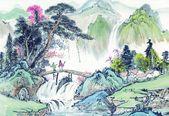 Peinture chinoise traditionnelle de chines — Photo