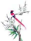 Porcelana tradycyjnego malarstwa chińskiego — Zdjęcie stockowe