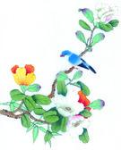 中国传统的中国绘画 — 图库照片