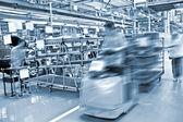 Modern car production line — Stock Photo
