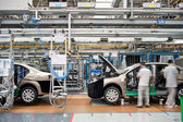 Modern car production line — Stock Photo