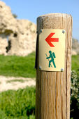 Trail marker — Stock Photo