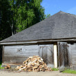 Log shed — Stock Photo