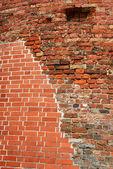Red brick wal — Stock Photo