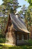Log church — Stock Photo