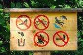 Warning Sign Board — Stock Photo