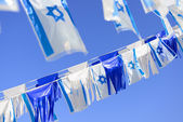 Israel flags — Stock Photo