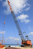 Crawler crane — Stock Photo