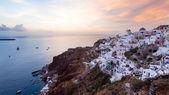 Sunset at Oia Santorini — Stock Photo