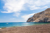 Playa de kamari santorini — Foto de Stock