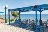Kamari beach santorini — Stock fotografie