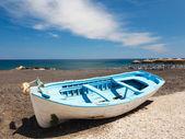 Kamari beach santorini — Zdjęcie stockowe