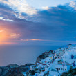 Stock Photo: Sunset Oia Santorini Greece
