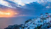 Sunset Oia Santorini Greece — Stock Photo