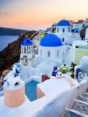 Sanotorini Greece Sunset — Stock Photo