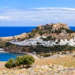 Lindos Rhodes Greece Europe — Stock Photo #28361927