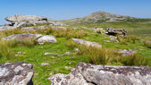 Views towards Rough Tor Bodmin Moor — Stock Photo
