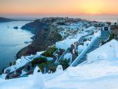 Sunset Over Oia Santorini — Stock Photo