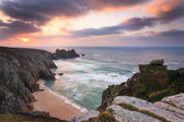 Dawn on Treen Cliffs Cornwall — Stock Photo
