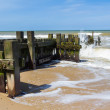 Groynes at Mundesley Norfolk England — Foto Stock