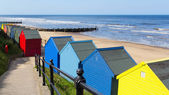Mundesley Beach Huts Norfolk England — Stock Photo