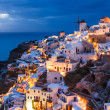 Night shot Oia Santorini Greece — Stock Photo #31586605