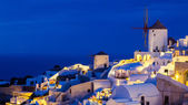 Night shot Oia Santorini Greece — Stock Photo
