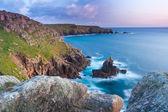 Irish Lady Sennen Cove Cornwall England UK — Stock Photo