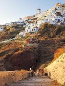Path to Ammoudi Bay Santorini — 图库照片