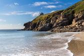 Rinsey пляж англии корнуолл — Стоковое фото