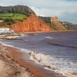 Sidmouth Beach Devon England — Stock Photo #36133979