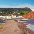 Sidmouth Beach Devon England — Stock Photo #36133985
