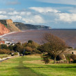 Overlooking Sidmouth Devon England — Stock Photo #36133997