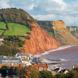 Overlooking Sidmouth Devon England — Stock Photo