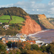 Overlooking Sidmouth Devon England — Stock Photo #36134009