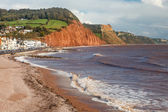 Sidmouth Beach Devon England — Stock Photo